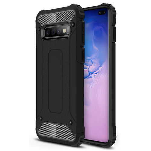 Military Defender Tough Shockproof Case for Samsung Galaxy S10+ (Black)